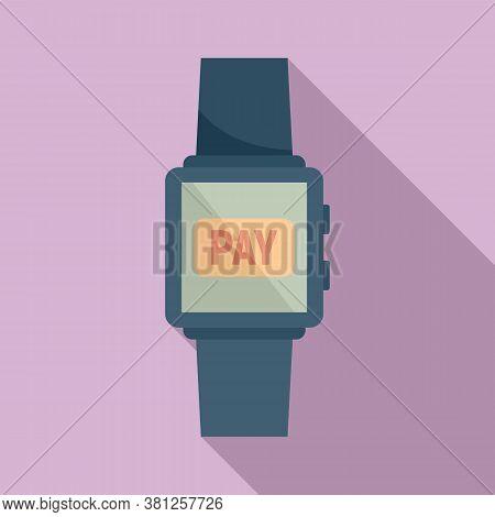 Smartwatch Digital Wallet Icon. Flat Illustration Of Smartwatch Digital Wallet Vector Icon For Web D