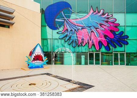 Sharjah, Uae - March 01, 2019: Sharjah Aquarium Is Located Near The Beach In Sharjah City In United