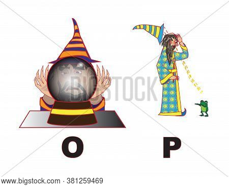 Angry Wizard Art Letters Alphabet O P
