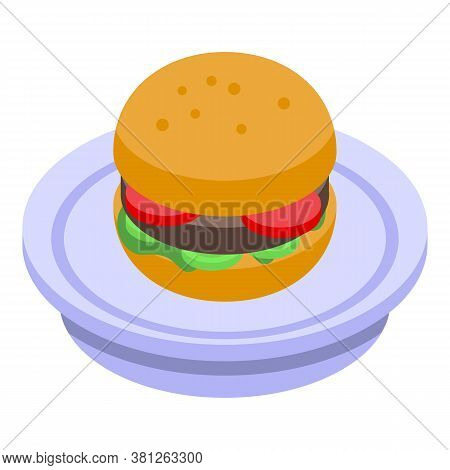Burger Subsidy Icon. Isometric Of Burger Subsidy Vector Icon For Web Design Isolated On White Backgr