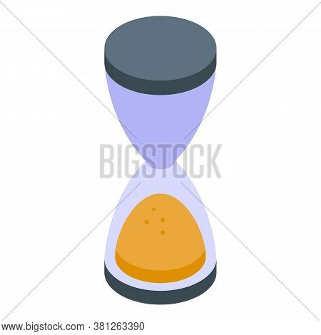 Subsidy Hourglass Icon. Isometric Of Subsidy Hourglass Vector Icon For Web Design Isolated On White
