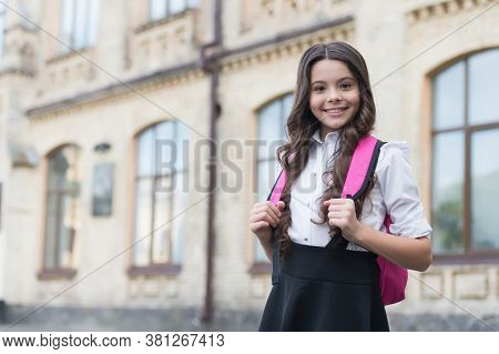 Free Schooling For All. Happy Kid Go To School. September 1. Formal Schooling. Compulsory Education.
