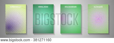 Elegant Point Screen Tone Gradation Cover Templates Vector Series. Medical Banner Faded Screen Tone