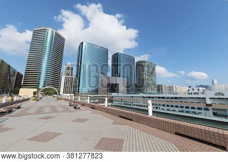 Park In Midtown Of Hong Kong City