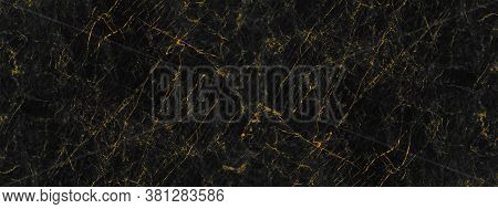Black And Golden Marble Stone Texture For Background Or Luxurious Tiles Floor And Wallpaper Decorati