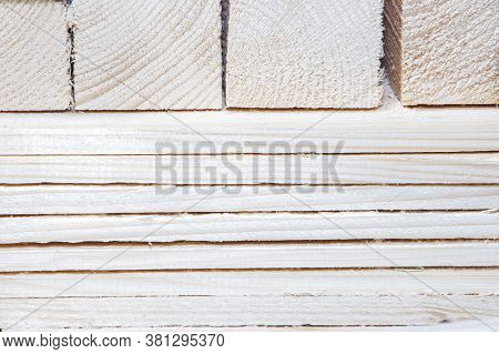 Wooden Planks, Lumber, Industrial Wood, Timber. Material Pine Board