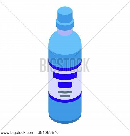Wash Cleaner Bottle Icon. Isometric Of Wash Cleaner Bottle Vector Icon For Web Design Isolated On Wh