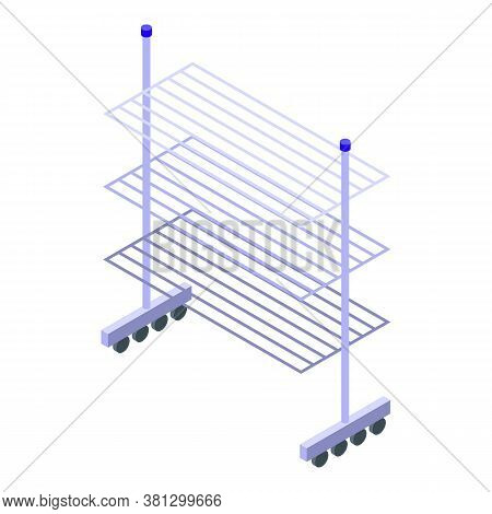 Clothes Dryer Rack Icon. Isometric Of Clothes Dryer Rack Vector Icon For Web Design Isolated On Whit