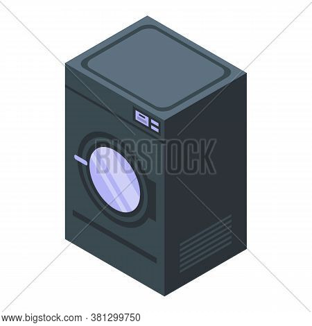 Tumble Dryer Icon. Isometric Of Tumble Dryer Vector Icon For Web Design Isolated On White Background