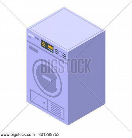 Automatic Tumble Dryer Icon. Isometric Of Automatic Tumble Dryer Vector Icon For Web Design Isolated