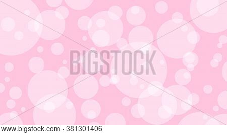 Abstract Pink Bokeh, Pastel Soft For Background, Bubble Bokeh Glowing Circle Soft For Wallpaper