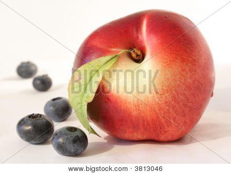 Peach & Blueberries