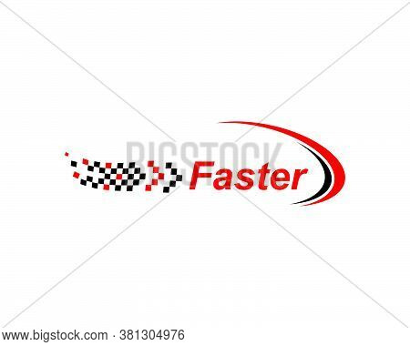 Faster Logo Icon Of Automotive Racing Concept Design