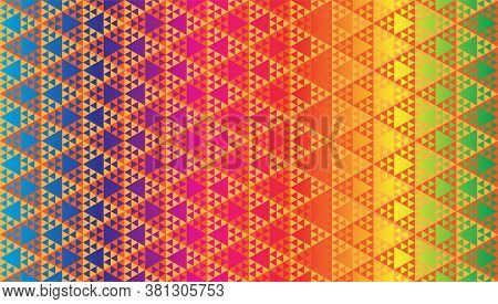 Triangular Shapes Wallpaper. Abstract Triangles Ornament  Vector Illustration. Geometric Seamless Pa