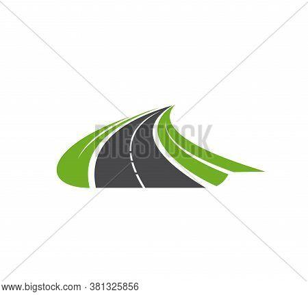Road, Pathway, Highway Vector Icon. Travel Or Transportation Service, Navigation Symbol, Driveway El