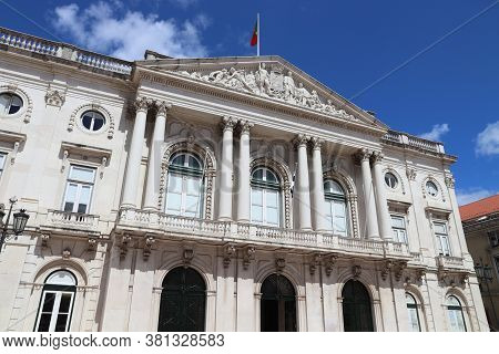 Lisbon City Hall (portuguese: Camara Municipal De Lisboa). Landmark In Portugal.