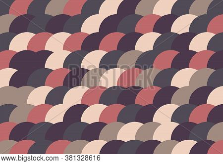 Abstract Polka Dot Pattern Design Of Circle Decorative On Pastel Color Artwork Background. Decorate