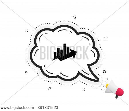 Growth Chart Icon. Quote Speech Bubble. Discount Sign. Sale Diagram Symbol. Quotation Marks. Classic