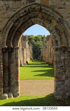 Archway at Finchale Priory in county Durham