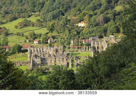 Rievaulx Abbey, from Rievaulx Terrace in the North York Moors