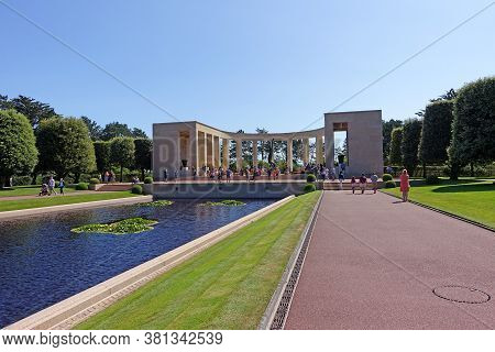 Normandy, France: August 2020: The Normandy American Cemetery And Memorial Is A World War Ii Cemeter