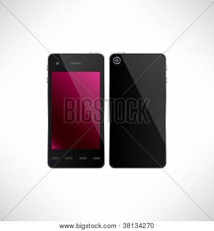 Touchscreen Smartphone.smartphone Original Design, Vector.