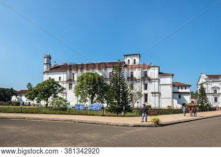 Old Goa, India - November 23, 2019: View Of The Catholic Church Of St. Francis Of Assisi And Convent