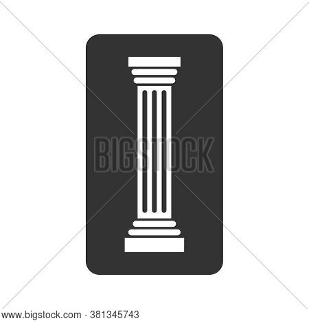 Column Graphic Icon. Pillar Sign Isolated On White Background. Logo. Vector Illustration