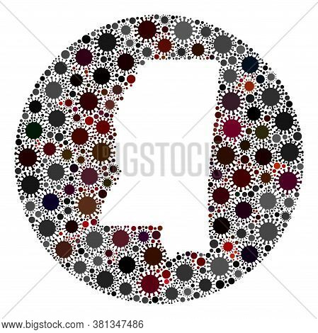 Vector Mississippi State Map Collage Of Coronavirus. Infection Attacks The Lockdown Territory From O