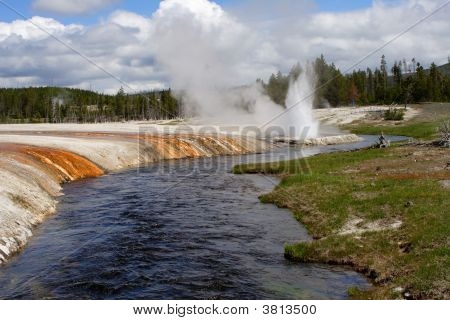 Geyser River Yellowstone