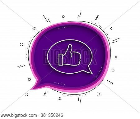 Positive Feedback Line Icon. Chat Bubble With Shadow. Communication Symbol. Speech Bubble Sign. Thin