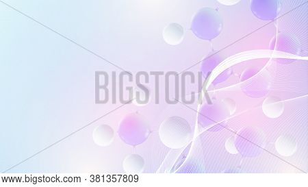 Molecular 3d Vector Structure Molecule Or Atom. Scientific Vector Illustration For Science Or Medica