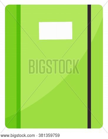 School Diary, Notebook Or Copybook Isolated Vector Object. Stationery Supply With Paper Sheets And R