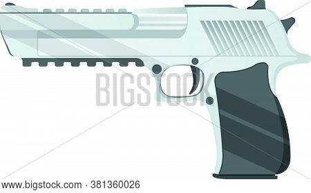 Desert Eagle Pistol Icon, Self Defense Weapon, Concept Cartoon Vector Illustration, Isolated On Whit