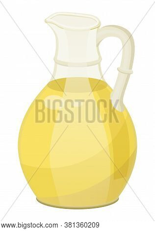 Hair Oil In Glass Isolated On White Symbol. Natural And Vitamins Remedy In Bowl For Treatment And Pr