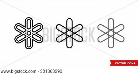 Dent Cryptocurrency Icon Of 3 Types Color, Black And White, Outline. Isolated Vector Sign Symbol.