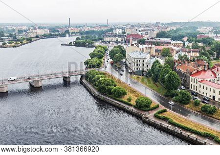 View Of The Old Medieval City Of Vyborg From The Observation Deck Of The Castle-fortress