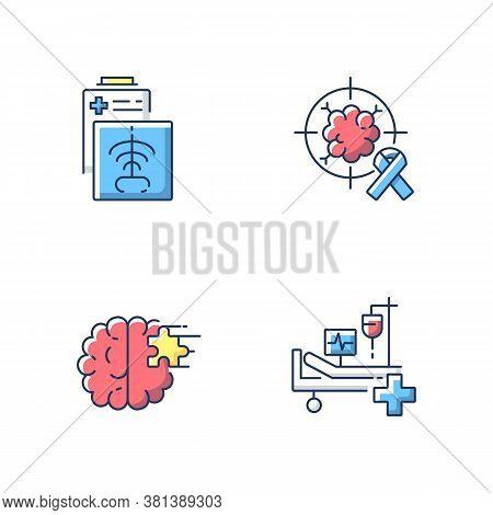 Health Care Services Rgb Color Icons Set. Ct Scan. Intensive Care Unit. Icu. Cancer Treatment Center