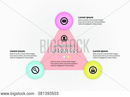 Circle And Triangle Vector Design Template Icon Account. Planning Presentation Business Infographic