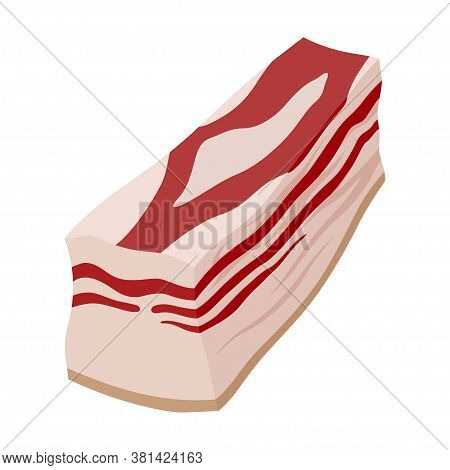 Salty Bacon, Delicious Meat For Snack And Cooking