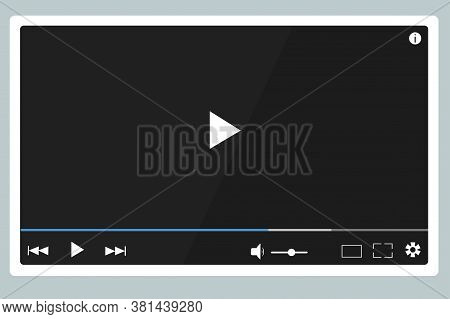 Video Player, Playing Media And Audio Files. Button Play Track. Sound Volume, Download Tape, Timelin