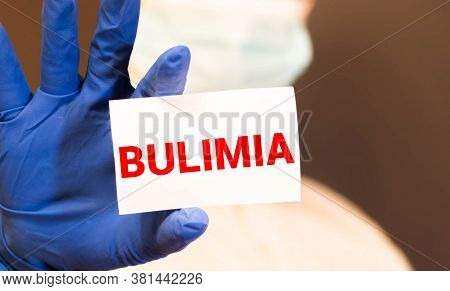 Bulimia Word Made With Building Blocks, Concept