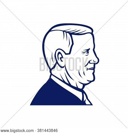Aug 18, 2020, Auckland, New Zealand: Illustration Of American Vice President Mike Pence, Politician