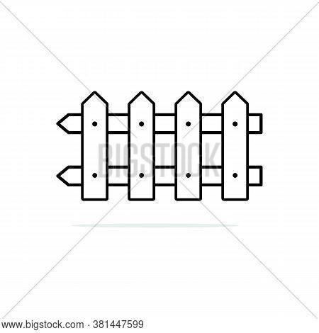 Fences Icon Isolated On White Background F. Fences Icon Trendy And Modern Fences Symbol. Fences Icon