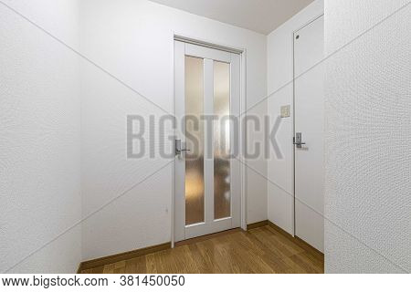 The Room Door At The Entrance To The Apartment In The Old Condominium