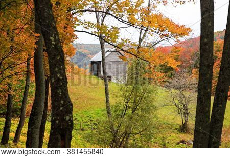 Old abandoned barn in rural Vermont