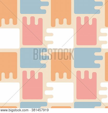 Abstract Figures, Puzzles. Uneven Edge. Pastel Color. Suitable For Fabric, Wallpaper And Other Surfa
