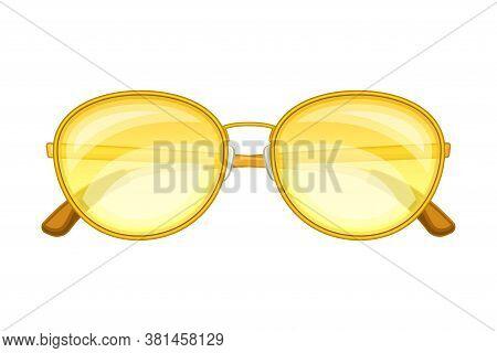 Sunglasses Or Shades Of Circular Shape As Protective Eyewear Vector Illustration
