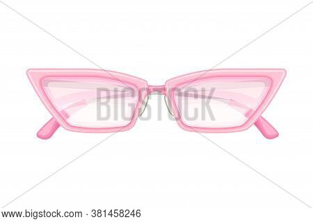 Shaped Horn Rimmed Sunglasses Or Shades As Protective Eyewear Vector Illustration