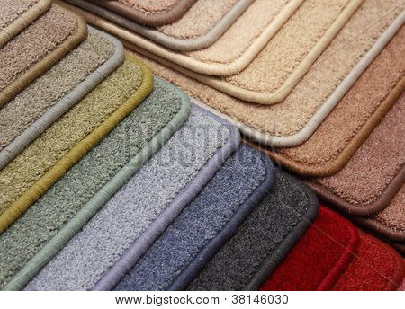 Samples of a color carpet close up poster